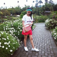 Red and white clothes style - ootd styles