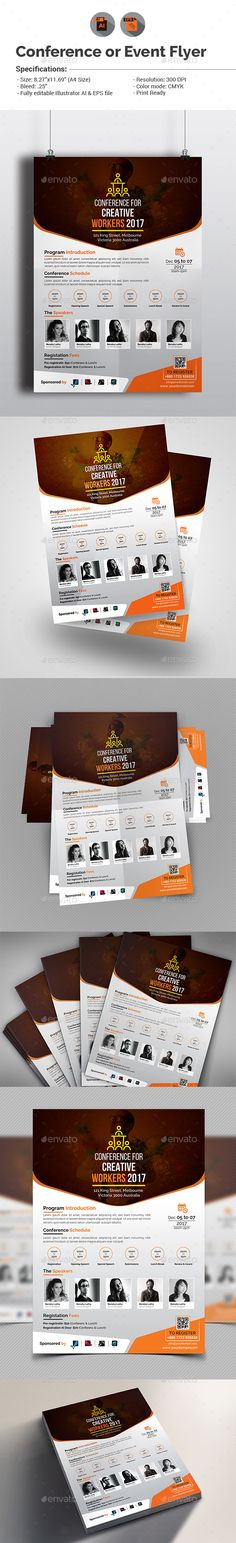 Conference / Event Flyer #ai #black #conference • Available here → http://graphicriver.net/item/conference-event-flyer/15488692?ref=pxcr