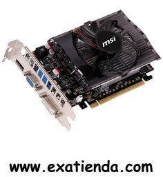 Ya disponible Vga Geforce MSI n630gt 2gb PCIEX ddr3   (por sólo 68.89 € IVA incluído):   -Procesador gráfico/chipset:GeForce GT 630 -BusAGP/PCIex:PCI Express x16 2.0 -Memoria de Video:2GB DDR3 -Frecuencia del Reloj:1000 MHz -Resolución Máxima.:2048 x 1536 -Resolución máxima DVI:2560 x 1600 -Conectores:VGA/DVI/HDMI -SLI/Crossfire:n/a -Directx:11 -Ventilador/Disipador: Ventilador Garantía de 36 meses.  http://www.exabyteinformatica.com/tienda/2756-vga-geforce-msi-n630