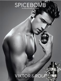 Viktor & Rolf Spicebomb Perfume - The Perfume Girl. Fragrances and colognes from fashion houses and perfume designers. Scent resources, perfume database, and campaign ad photos. Sean O'pry, Highest Paid Male Model, Anuncio Perfume, Parfum Dior, Victor And Rolf, Male Models Poses, Perfume Ad, Perfume Deals, Fashion Editorials