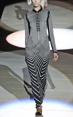 Marc Jacobs Optic Chevron Silk Jersey Dress