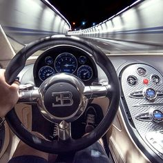Behind the wheel of a Bugatti Veyron