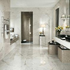 Marvel Calacatta Extra Gloss Glazed Ceramic Wall Tile 305x915mm SKU: AA1092 SIZE: 305x915mm