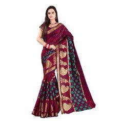 It'S Bani Maroon Silk Saree