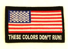 USA FLAG THESE COLORS Iron on Small Badge Patch for Biker Vest SB850  #sturgismidwestinc