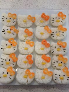 Hello Kitty sushi - this is how I will introduce sushi to Jade and she will love it!!