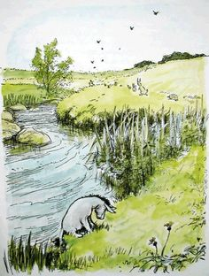 """""""Weeds are flowers too, once you get to know them."""" --Eeyore. (Image is an Ernest Shepard illustration.)"""
