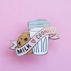 Milk and Cookies Enamel Pin – Nikki McWilliams