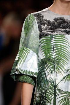 Fresh Fresh Green  ~`*    ~  Palm Tree leaf Print  ~     Dries Van Noten Spring - Summer 2012 Fashion