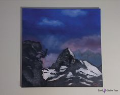 Mountain Climbers, Mountain Landscape, Oil Painting On Canvas, Paintings, Mountains, Winter, Shop, Etsy, Art