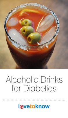 you have diabetes but want to relax with an adult beverage, it's important to know what alcoholic drinks are most appropriate for you. Avoid sugary concoctions, and choose from a variety of cocktails that won't cause you to take in too much sugar. Alcoholic Drinks For Diabetics, Diabetic Drinks, Diabetic Recipes, Healthy Drinks, Low Sugar Alcoholic Drinks, Alcoholic Cocktails, Nutrition Drinks, Party Food For Diabetics, Cooking For Diabetics