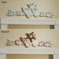Coral Garden Indoor Outdoor Wooden Wall Topper/at touch of class 35 x 11 ,blue or natural, would attach to headboard $70.sale all wood,hand carved. was over $100. great deal