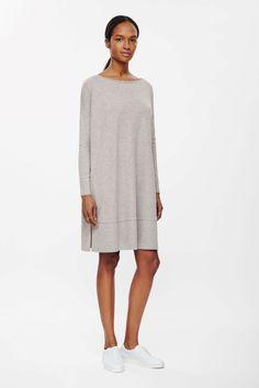 Square-cut jersey dress | COS
