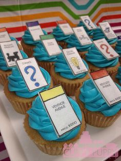 CUPCAKES WITH EDIBLE PHOTOS 2012-3-16 monopoly copy (1) by Cuppy Puppy Mommy Joanna, via Flickr