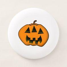 Halloween Jack-o'-Lantern With 3 Eyes Wham-O Frisbee