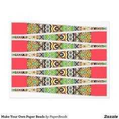 Make Your Own Paper Beads Custom Letterhead