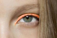 neon orange eyeshadow