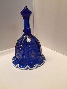 Fenton Art Glass Bell Signed