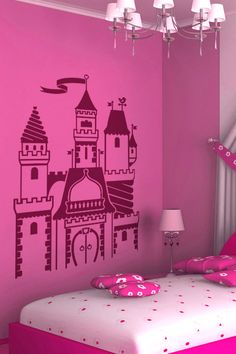 Princess Castle wall decal by WALLTAT.com