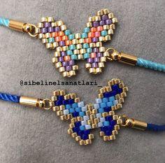 Beaded Earrings Native, Beaded Earrings Patterns, Seed Bead Earrings, Beaded Rings, Beading Patterns, Friendship Bracelets With Beads, Bead Loom Bracelets, Beaded Banners, Butterfly Jewelry