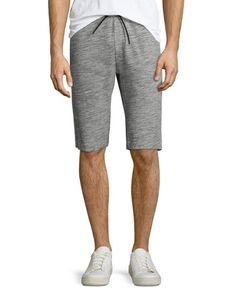 THEORY Moris Terry Sweat Shorts, Dark Heather. #theory #cloth #