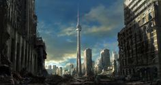 The ruins of cities like Toronto are familiar in post-apocalyptic art (image courtesy Jonas DeRo). Description from paulmullins.wordpress.com. I searched for this on bing.com/images