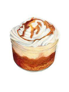 Banana Pudding Art // Food Illustration // par KendyllHillegas