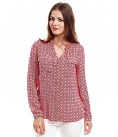 Camisa Feminina Estampada - Lojas Renner