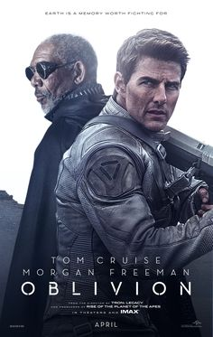 Official 'Oblivion' Movie Poster featuring Tom Cruise and Morgan Freeman http://www.OblivionMovie.com