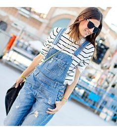 Update your look with outfit ideas you can actually recreate, as worn by our favourite street style savants. Grunge, Street Style, Dungarees, Denim Overalls, Who What Wear, Fashion Photo, Casual Chic, Spring Summer Fashion, Dress To Impress