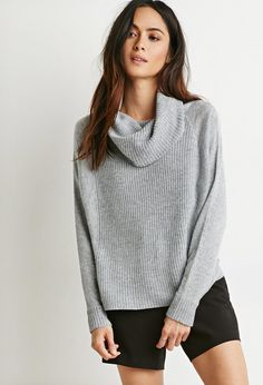 Shop Forever 21 for the latest trends and the best deals | Forever 21 I love this turtle neck grey cable sweater ughh it's so cute