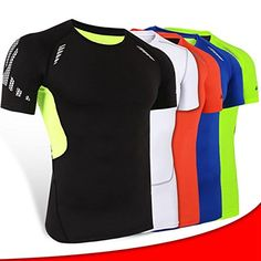 Breathable Quickdrying Men Sports Tights Tops Running Fitness Shortsleeved Bodybuilding Sportswear *** Click image for more details.