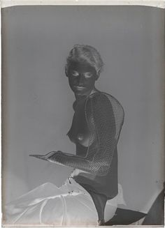 Man Ray: Lee Miller, 1930. Solarization technique developed by Ray & Miller.