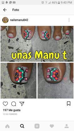 Toe Nail Art, Toe Nails, Pedicure, Pretty, Mariana, Toe Nail Designs, Nail Art Tutorials, Feet Nails, Toenails
