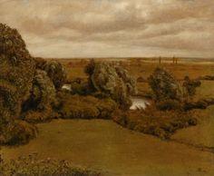 Hans Thoma (1839-1924) - Paesaggio alla Nidda a Francoforte - 1890 - Arp Museum Rolandseck Bahnhof (Germania), collezione Rau per l'UNICEF