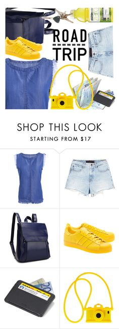 """Road Trip"" by ansev ❤ liked on Polyvore featuring Alexander Wang, adidas Originals, Troika, Moschino, RHYTHM and zaful"