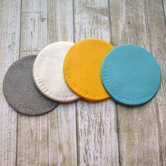 Sculpey Clay Coasters - One Artsy Mama Sculpey Clay, Polymer Clay Crafts, Diy Clay, Felt Crafts, Diy Arts And Crafts, Crafts To Make, Clay Activity, Diy Coasters, Clay Design
