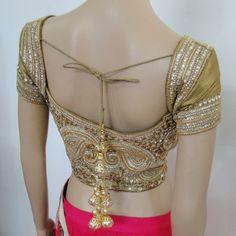 gold blouse lehenga   Lehenga   Varuna Jithesh