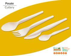 Biodegradable & Compostable cutlery made from Mater-Bi® by Ecozema® - Posate biodegradabili e compostabili in Mater-Bi® di Ecozema®