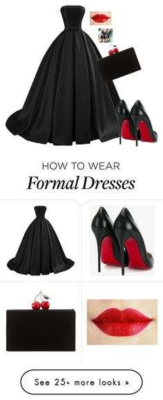 """idk #255"" by tinavanrheede on Polyvore featuring Christian Louboutin and Edie Parker"