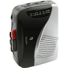 AM/FM Cassette Player/Recorder, Black/Silver