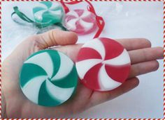 CANDY CANE SOAPS  Christmas Candy Cane soaps  by StarSoapsbyIvana