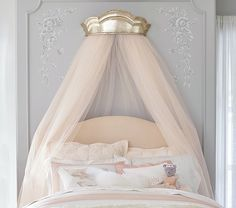 Monique Lhuillier Gold Cornice Canopy | Pottery Barn Kids