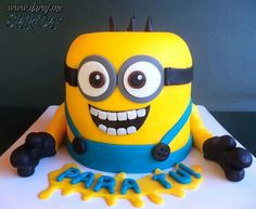 Minion cakes on Pinterest  Minions Birthday Cakes, Minion Birthday ...