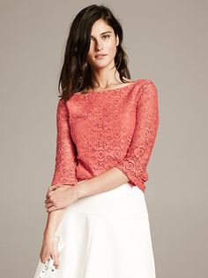 Mosaic Lace Top - Shirts