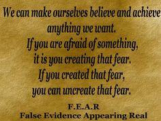 Beware of F.E.A.R!
