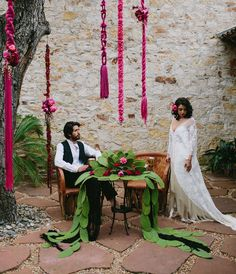 Fuchsia Cognac Wedding Inspiration