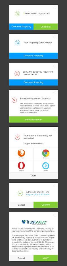 Pop up windows / alert modals | Desktop user interface design #UIdesign