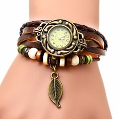 Do You Love This? Leaf Wrap Vintage... Is Excusively Available On Our Store. Get Your Now! >> http://jewelsnlooks.com/products/leaf-wrap-vintage-leather-bracelet-wrist-watch?utm_campaign=social_autopilot&utm_source=pin&utm_medium=pin