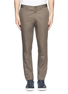 Complete a smart casual look with these slim cut chinos from Lanvin. Made in Italy with 100% cotton, this quality pair will keep you comfortable and stylish. Wear it with a tailored blazer for a dapper finish.